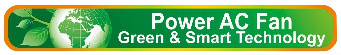 Power AC Fan green and smart technology logo