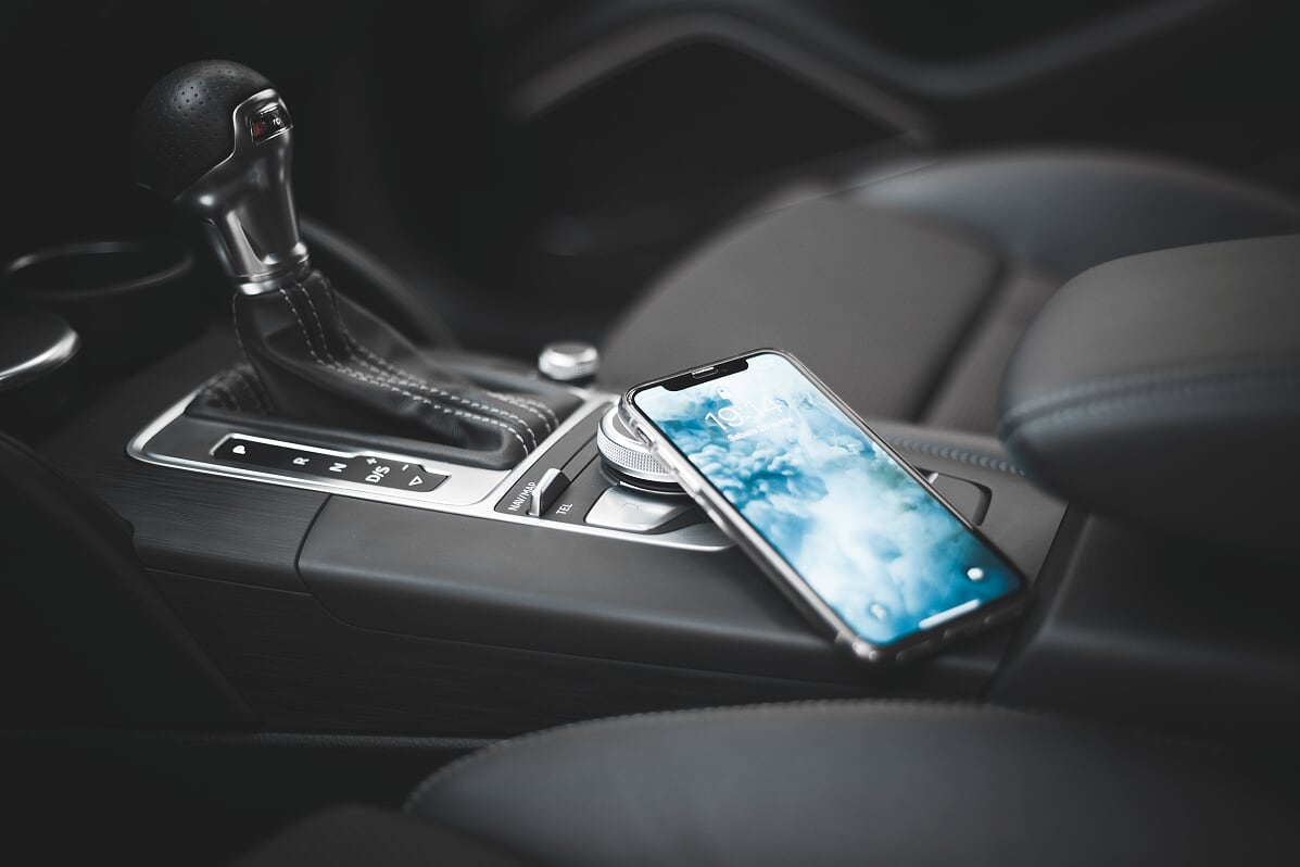 phone sitting in car